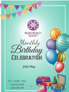 Monthly Birthday celebration @ Bojo Beach Resort